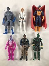 "Marvel Legends Lot 6 Loose Figures Killmonger Agent 13 Gargoyle Nighthawk 6"""