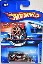 HOT WHEELS 2006 HONDA CIVIC TYPE R BLACK  #133 FTE
