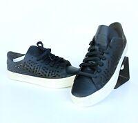 adidas Originals CourtVantage Cutout Sneaker Damen Schwarz Weiß Leder BY2956