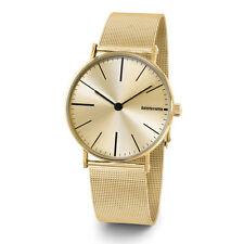 """Lambretta """"Cesare Mesh Gold"""" Acero Inox IP Oro Malla Clasico Hombre Reloj"""