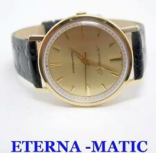 14k ETERNA-MATIC CENTENAIRE 61 Watch c.1970s Cal.1428U* MINT* Orig DIAL*TESTED