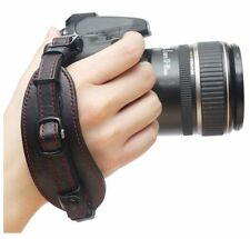 NEW CIESTA Camera Leather Hand Grip Strap (BALCK/RED) w/ Plate for DSLR SLR RF