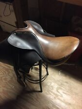 "Genral-Purpose English Saddle, Brn, 17""Seat, Stirrups Made In England"