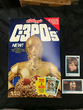 1985 STAR WARS C 3POS CEREAL BOX WITH 2 STICKERS