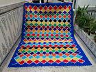 Handmade Moroccan Vintage Azilal Rug Beni Ourain Berber Tribal Carpet