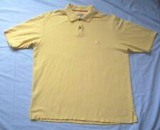 Tommy Bahama Men's Large Pima Cotton Blend Yellow Polo Shirt Marlin Logo