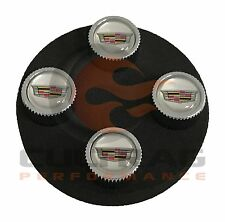 2012-2014 Cadillac CTS Valve Stem Caps Color Cadillac Crest Silver Background