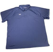 Under Armour Mens HeatGear Loose Fit Short Sleeve Golf Polo Shirt  Size 5XL NEW