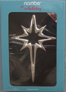 Nambe 8 Point Star of Bethlehem Ornament New in Box