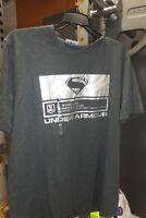 Under Armour Alter Ego Justice League Superman loose foil tee shirt NWT mens SzM
