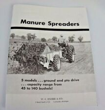 Ih Mccormick 10 20 21 30 40 Manure Spreaders Sales Brochure Farmall 350 450 50s