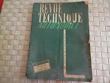 REVUE TECHNIQUE CHEVROLET TYPE 1949 / DYNA 1950 / CARBU ROCHESTER