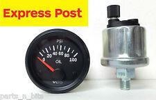 VDO 52mm 12V COCKPIT VISION 100 PSI OIL GAUGE AND SENDER