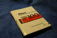 Nikon F100 manual - original - English