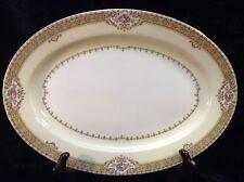 "Meito China Annette Oval Medium Serving Platter 14"""
