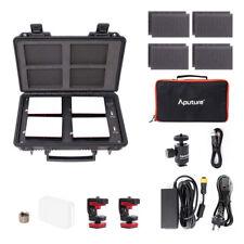 Aputure MC 4-Light Travel Kit Portable LED 3200-6500K RGB Light+ Charging Case