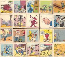 20x RARE CARDS LUCKY LUKE - MORRIS / MONTY GUM 1970 NEDERLAND