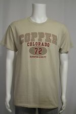 Men's MEDIUM Copper Colorado Elevation 12,313 Ft. Beige Tan SS T-shirt