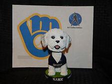 "2014 Hank The Dog ""Ballpark Pup"" MILWAUKEE BREWERS SGA BOBBLEHEAD~NIB!"