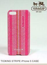 Coach Pink Ticking Stripe IPhone 5 Case 64702B