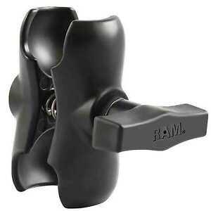 "RAM Short Double Socket Arm for 1.5"" Ball Bases Overall Length: 3.5"" RAM-201U-B"