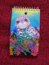 LISA FRANK SMALL SPIRAL NOTEBOOK WITH OCEAN THEME AND SEAL ON FRONT 3X5 INCHES