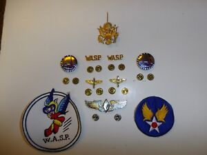 b9720 WW 2 US Army Women's Air Force Service Pilot WASP Insignia Package R22D