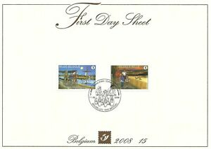 [FDS261] Belgium FDS 2008-15 Vacation Cycling First Day Sheet SUPERB