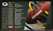 Green Bay Packers--2013 Magnet Schedule--Bellin Health