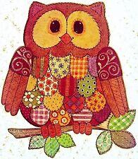 Vintage 1975 Patchwork Owl Iron On Transfer Artist Carol Wynne Last One! Rare!