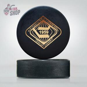 1959 Prague Bratislava Czechoslovakia Ice Hockey World Championship puck IIHF