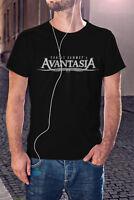AVANTASIA Men Black T-Shirt Rock Metal Band Tee Shirt HELLOWEEN
