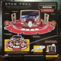 NEW Star Trek U.S.S. Enterprise Bridge Playset Playmates Toys + Bonus Kirk Fig.