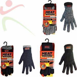 Heat Machine Men's Women's Winter 100% Acrylic Thermal Gloves Warm Insulated NEW
