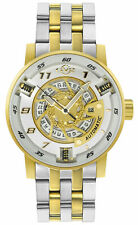 GV2 By Gevril Men's 1306B Motorcycle Sport Automatic Two-Tone IP Steel Watch