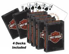 Harley-Davidson Rustic Bar & Shield Logo Std Size Playing Cards 637 - 4 Decks
