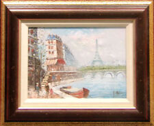 Burnel Untitled Original Oil Painting Paris Hand Signed Make an Offer free ship