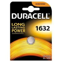 DURACELL Pila Batteria a Bottone 1632 DL1632 CR 1632 3V Litio Long Lasting Power