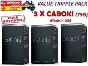 3 X CABOKI Hair Building Fibers Thickner Concealer Hair Loss Treatment - GENUINE