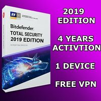 BITDEFENDER TOTAL SECURITY 2018 - 4 YEARS 1 DEVICE - DOWNLOAD