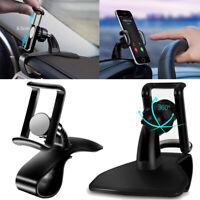 360° Rotation Car Phone Holder Dashboard Mount  HUD Stand  For Smartphone GPS