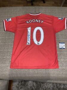 WAYNE ROONEY Signed Manchester United Jersey (Beckett COA) !!!