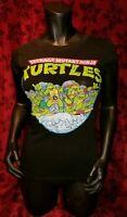 SMALL Mighty Fine Teenage Mutant Ninja Turtles 80's Retro T-shirt Punk Rock TMNT