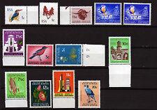 Südafrika 390-01 mit 393 a,b **, Freimarken 1969, Tiere, Pflanzen, Bauwerke