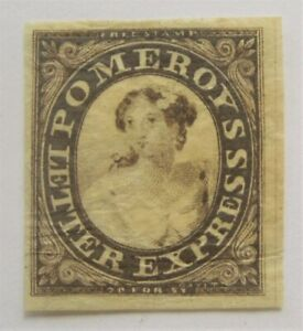 Mint 1844 US Local Pomeroy's Brown with 4 Margins MNG