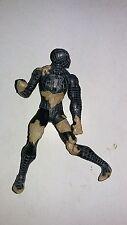 Spider-man 3 black costume sand battle damage 4 inch figure