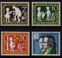 W Germany 1959 Humanitarian Relief SG 1236-1239 MNH