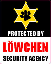 Protected By LÖWchen Security Agency Lowchen Sticker