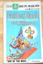 JACK WILLIAMSON (SIGNED) Golden Blood 1st ptg LANCER 73-630 VG+STEELE SAVAGE ART