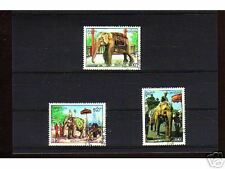 1027++LAOS   SERIE TIMBRES  ELEPHANTS  N°3